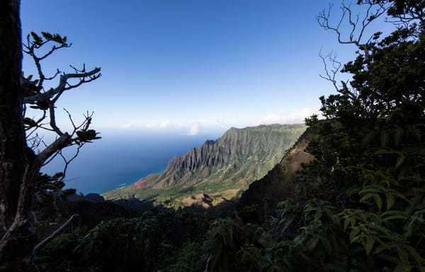 Napali Coast, overlook, Kauai