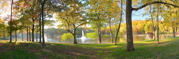 Autumn Afternoon at Hubbard Park in Meriden