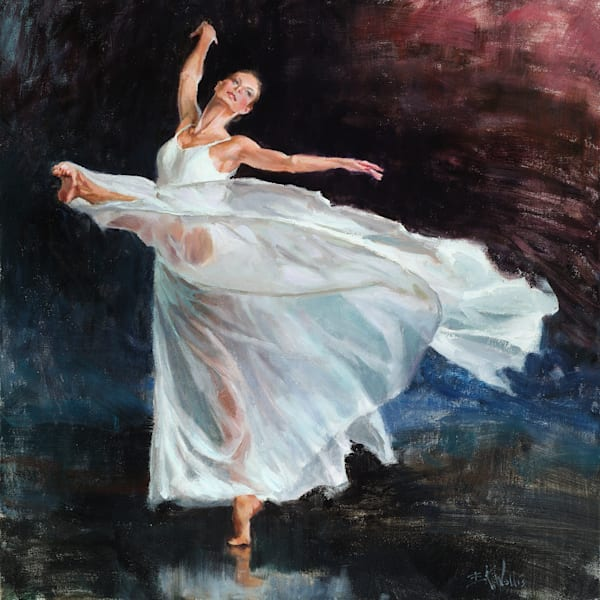 Eric Wallis -oil painting, dancer