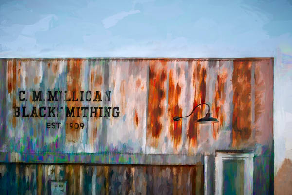 Blacksmith Shop Rust Painting Decor|Wall Decor fleblanc