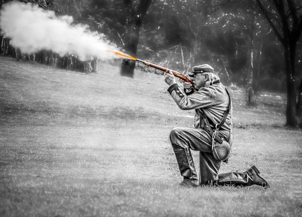 Civil War Battle Reenactment Long Rifle Realistic Historic fleblanc