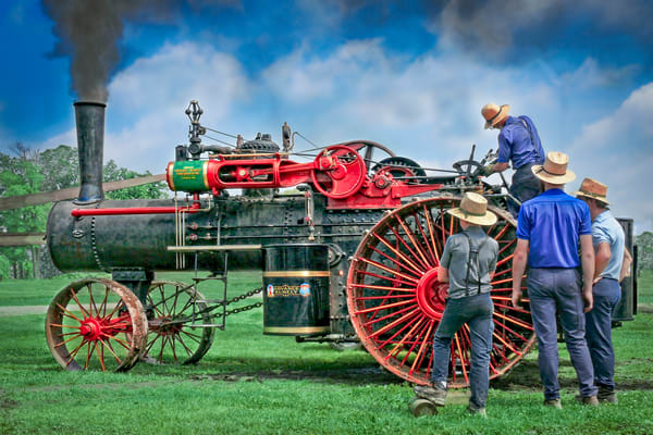 Advance Rumely Steam Antique Tractor|Wall Decor fleblanc
