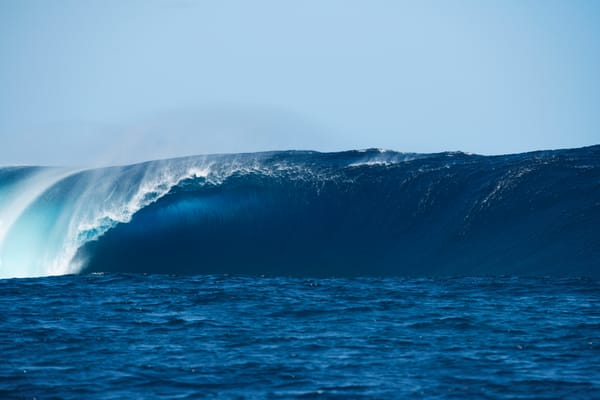 Cloudbreak Bomb , Fiji Surf Art Print by Brad Scott