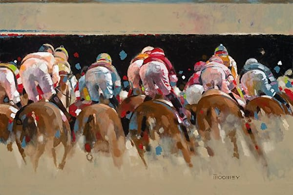 Far Turn by Bill Moomey | Horse Scenes | Madaras