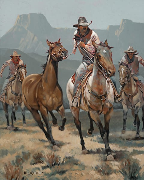 Horse Thieves by Bill Moomey | Southwest Art | Horse Scenes