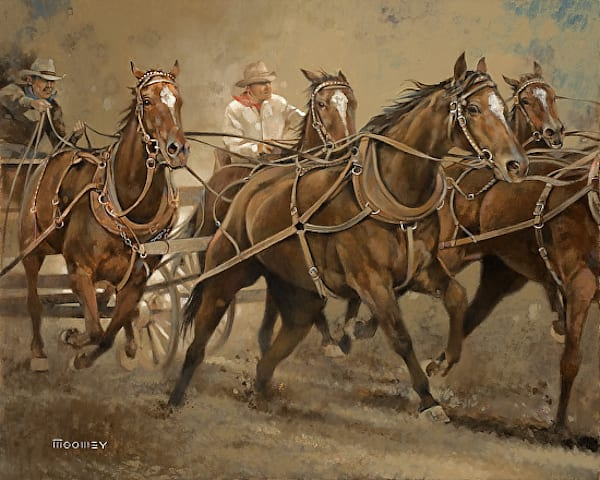 Stagecoach Original Oil Painting by Bill Moomey