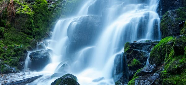 Fairy Falls Panoramic Print by Brad Scott