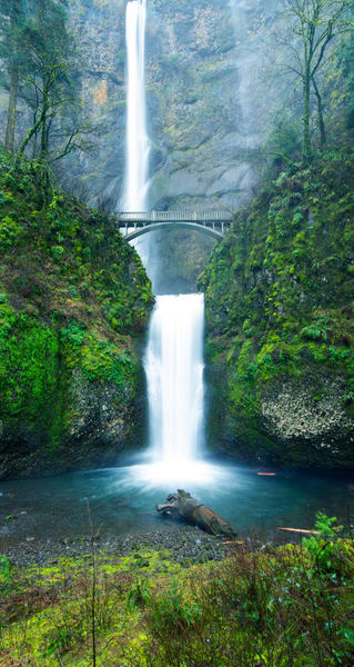 Multnomah Falls Verticle Panoramic Fine Art Print