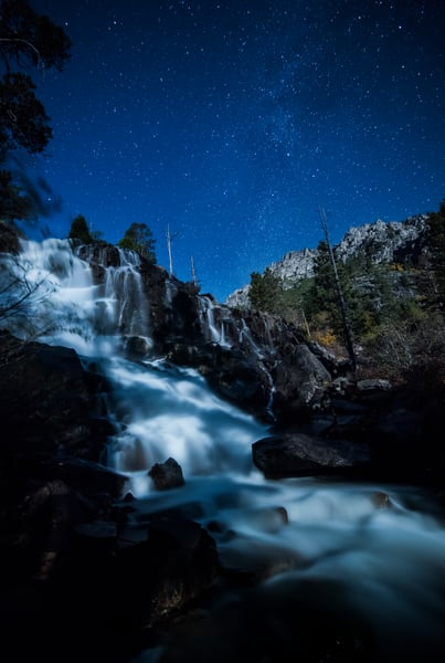 A night at Lower Eagle Falls Fine Art Print