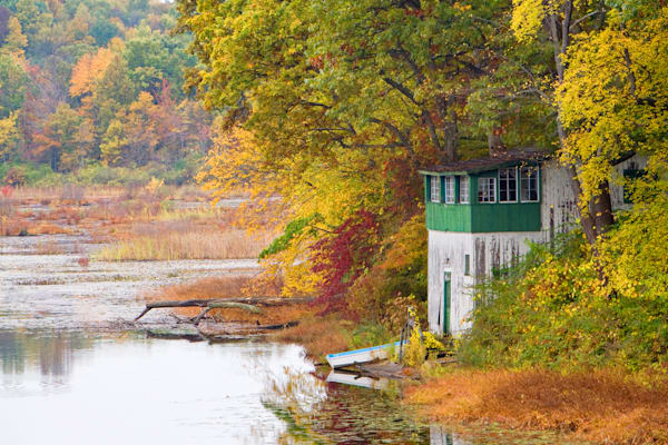 The Boathouse of Black Pond in Meriden CT