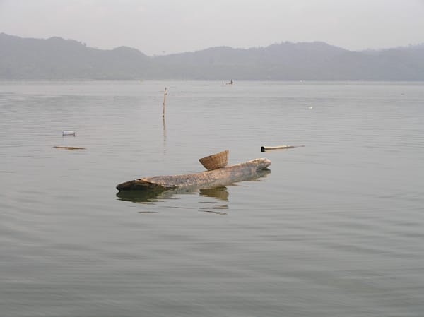 Hand-Carved Fishing Boat--Ghana