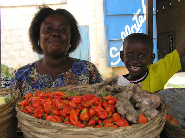 Proud of Their Produce--Ghana