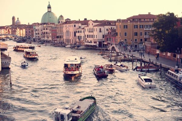 Boats of Venice Fine Art Photography Print by Brad Scott