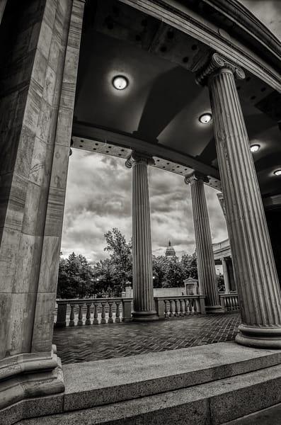 Vertical Denver Civic Center Columns Photograph State Capitol Dome