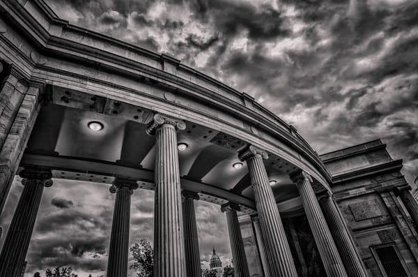 Denver Civic Center Columns B&W Horizontal Photograph Colorado State Capitol