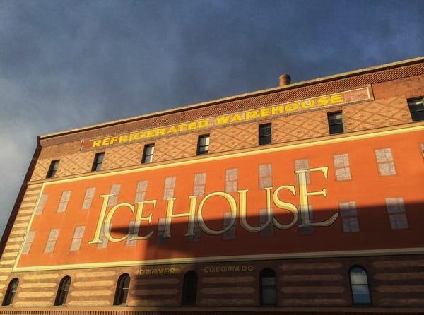 Old Denver Colorado Ice House Building Sign Photo