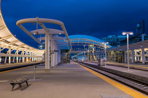 Denver Union Station Train Hall Twilight High Quality Prints