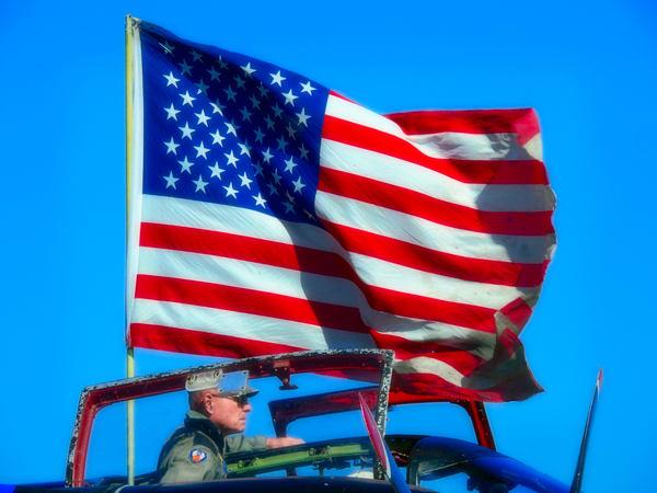 WW2 Bomber Old Glory American Flag Restored Vintage fleblanc