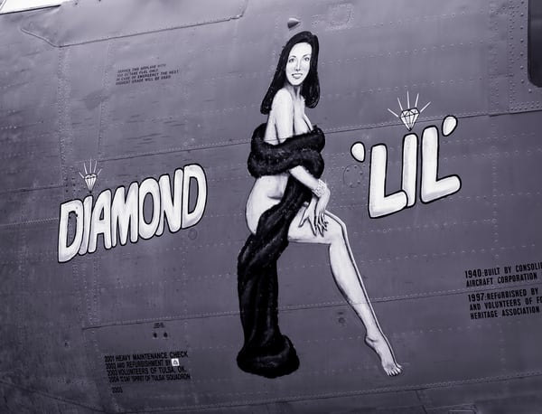 Diamond Lil B-24 Liberator WW2 Logo Restored Aircraft fleblanc