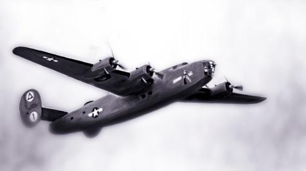 Liberator B-24 Airborne Bomber Warbird Restored Aircraft fleblanc