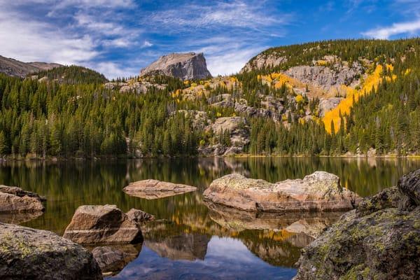 Photograph of Hallett Peak Reflecting on Bear Lake Rocky Mountain National Park