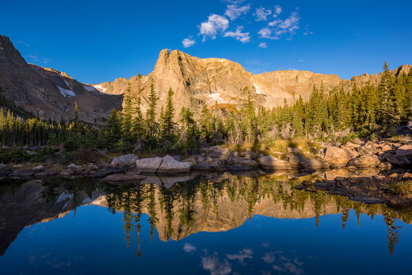 Picture of Notchtop Mountain at Sunrise Reflecting into Small Alpine Pond