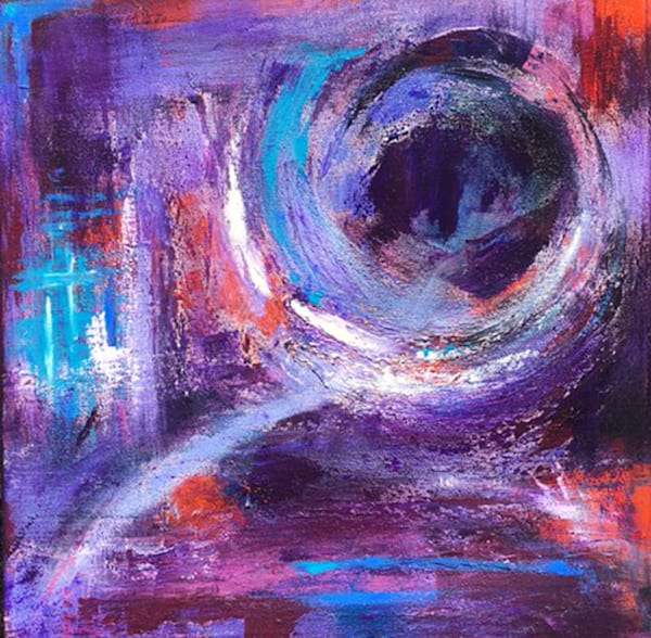 Welcome the Change 2-Abstract Painting by Christine Nye