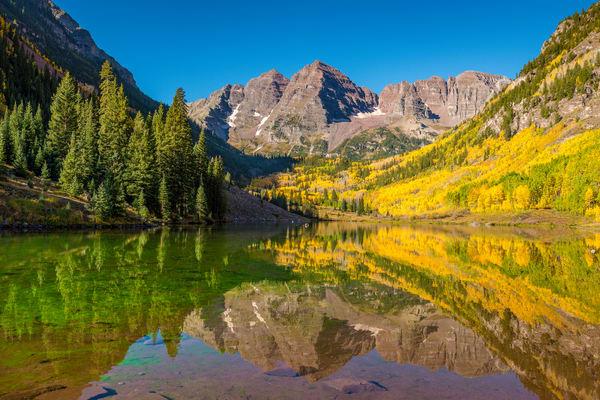 Aspen Colorado's Maroon Bells & Fall Colors of Aspen Trees