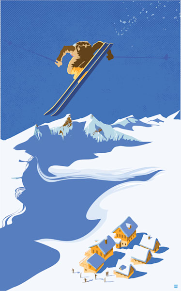 Retro alpine ski prints and posters