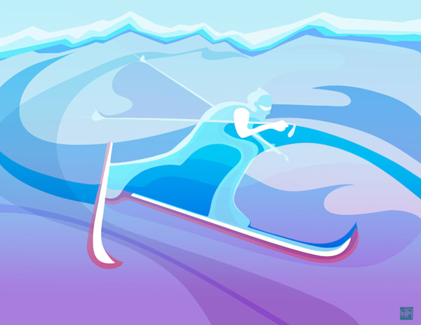Nordic Ski art and prints