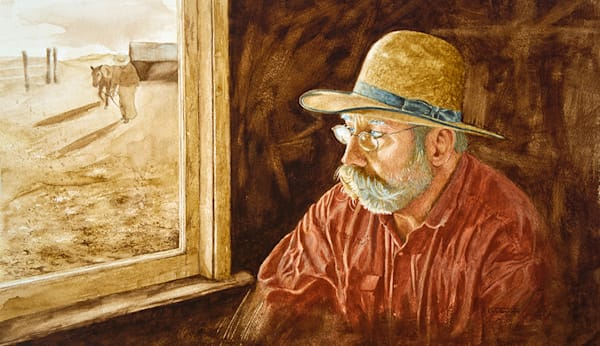 Raymond Wattenhofer Art Painting The Cowboy Poet
