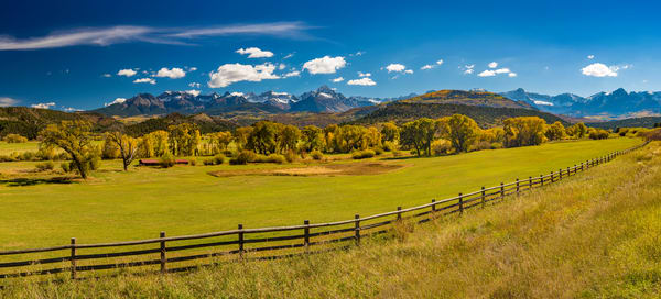Wide Panoramic Photo of Mt Sneffels Wilderness Range Ridgway Colorado