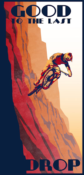 Good to Last Drop mountain bike art prints and posters,Alberto contador poster, cycling legends, cycling art prints, cycling illustrations, cycling fine art, Tour de France legends, cycling fan, Tour de France collectibles, Tour de France prints, To