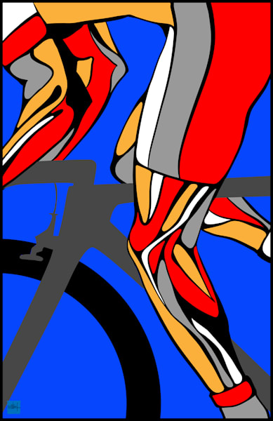Tour de France legs, triathlon, triathlete, cycling art, bike art, biking, Giro, bike racing, cycle,bicycle art, retro cycling art,