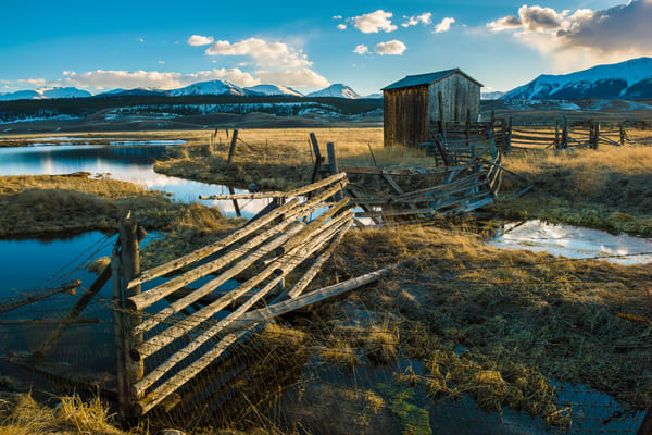 Photo of Leadville Colorado Ranch at Sunset