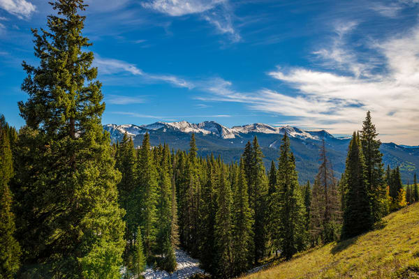 Photo of West Elk Mountains from Gunnison National Forest Colorado