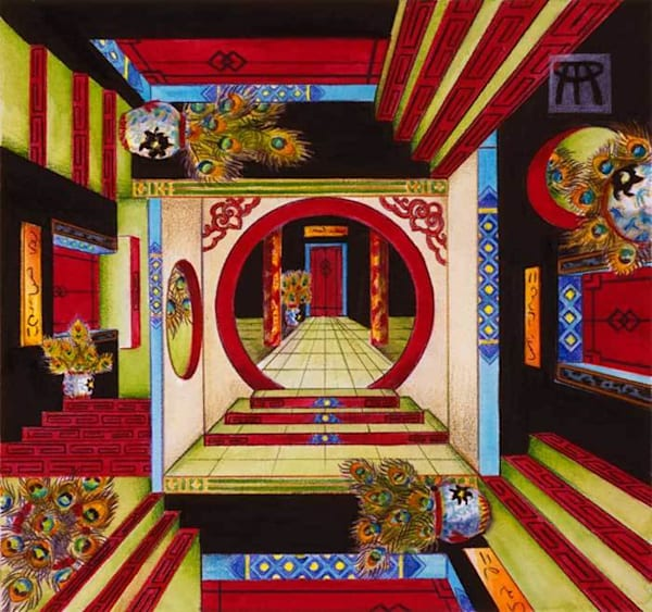 The House Of Mirrors   Original Art   Melissa A Benson Illustration