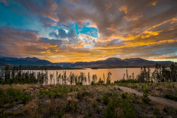 Photo of Dramatic Sunset over Lake Dillon Summit County Colorado