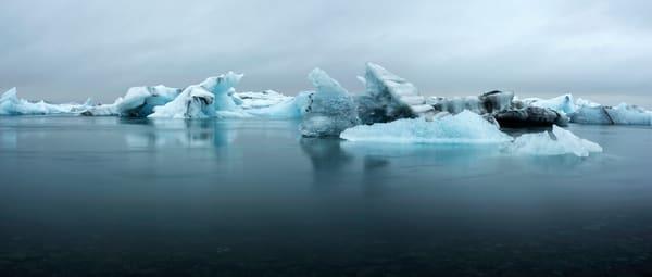 Jokulsarlon Glacier Lagoon Panoramic Photo by Brad Scott