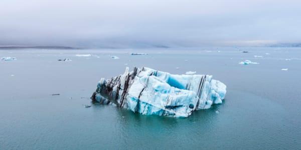 Jokulsarlon Iceberg Aerial Photo print
