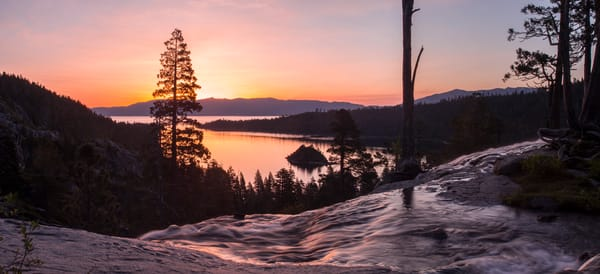 Tangerine Sunrise, Emerald Bay Lake Tahoe Photo Art by Brad Scott