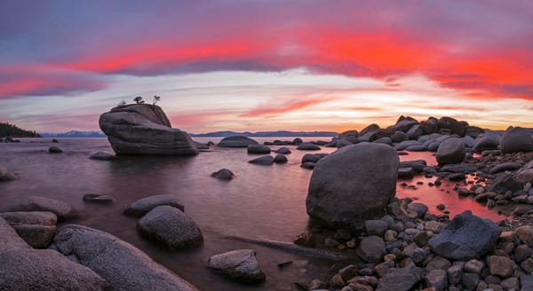 Bonsai Rock on Fire, Lake Tahoe picture by Brad Scott