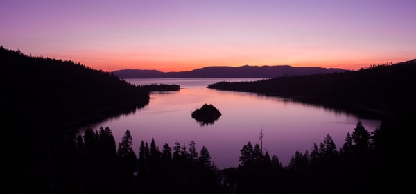 Emerald Bay Sunrise Panorama Photo Art Print