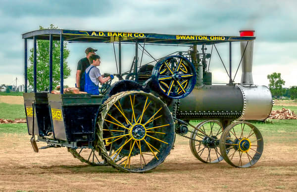 Baker Swanton OH Steam Powered Tractor|Wall Decor fleblanc