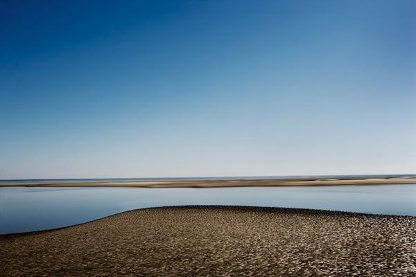 blue sky low tide 3 beach art print