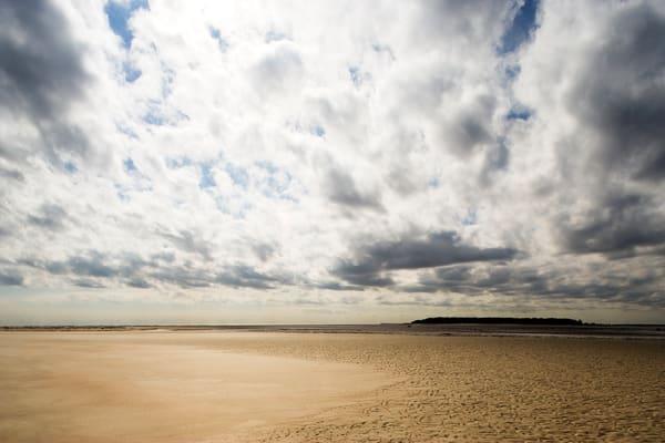 low tide walk beach art print