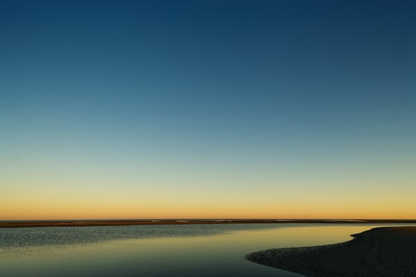 low tide sunset beach art print