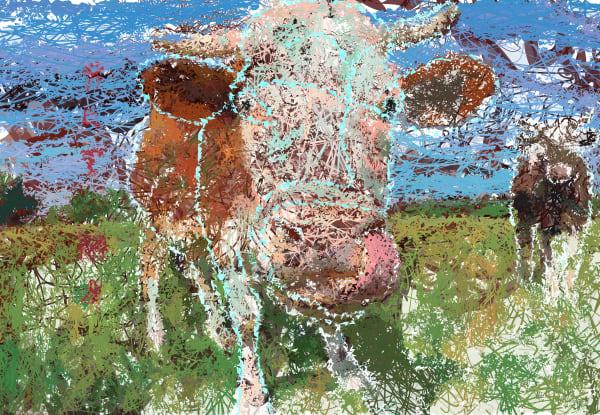 Cow Art Decor