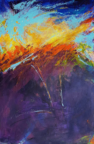 Abstract Art of Spirit in the Sky by Christine Nye
