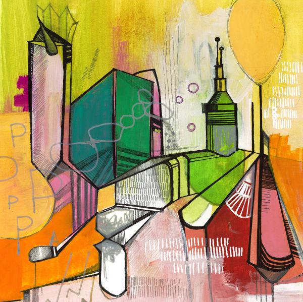 Vibrant Skyline 1 Art | catherine-hart